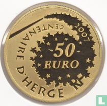 """France 50 euro 2007 (PROOF) """"100th anniversary of the birth of Georges Remi - alias Hergé"""""""