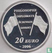 "Frankrijk 20 euro 2006 (PROOF) ""300th anniversary of the birth of Benjamin Franklin"""