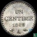 Frankrijk 1 centime 1848 (PIEDFORT)