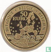 """Belgium 50 euro 2010 (PROOF) """"100 Years of Tervuren African Museum"""""""