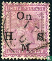 Königin Victoria mit großem Aufdruck On H.M.S.
