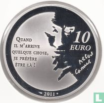 "France 10 euro 2011 (PROOF) ""Heroes of the French literature - the Stranger"""