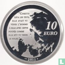 "France 10 euro 2011 (PROOF) ""Heroes of the French literature - Cosette"""