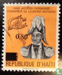 Jean-Jacques Dessalines met opdruk