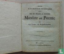 Sämtliche in den churfürstlich. sächsischen Landen alljährlich von den Kanzeln zu verlesende Mandate und Patente