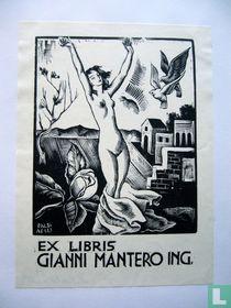 Ex libris voor Gianni Mantero ing.