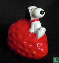 Snoopy on strawberry  (Fruit Series)