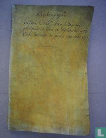 Rekenynghe vanden Disch van Damme gheliquideert den 16 september 1723