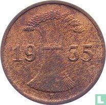 Duitse Rijk 1 reichspfennig 1935 (F)