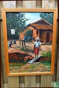 Indisch olieverfschilderij