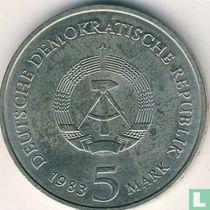 "DDR 5 mark 1983 ""Wittenberg castle church"""
