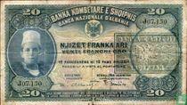 Albanië 20 Franka Ari ND(1945)