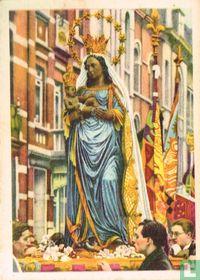 St-Niklaas bij Luik - De Zwarte Maagd in de Zevenjaarsprocessie