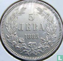 Bulgarije 5 leva 1885