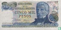 Argentinië 5000 Pesos 1977