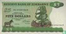 Zimbabwe 5 Dollars 1983