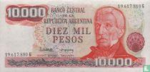 Argentinië 10.000 Pesos 1976