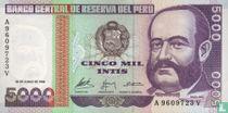 Peru 5000 Intis
