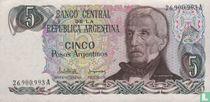 Argentinië 5 Pesos Argentinos 1983