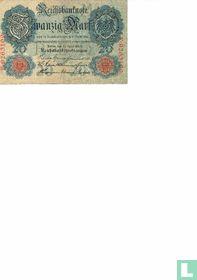 Reichsbanknote, 20 Mark 1910