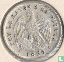Chili 20 centavos 1879 (0.5 in Omschrift)