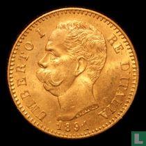 Italië 20 lire 1891