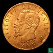 Italië 20 lire 1873 (M)