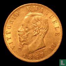 Italië 20 lire 1867