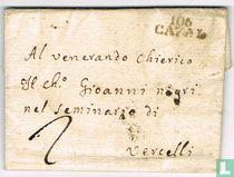 """Lettre Département Conquis """" 106 CAZAL """""""