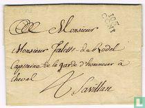 """Lettre Département Conquis """" 105 CONI """""""