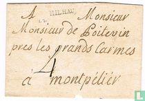 """Lettre avec Marque Postale """" MILHAU """""""