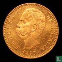 Italië 20 lire 1893