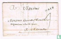 """Lettre avec Marque Postale """" AIX (D') """""""