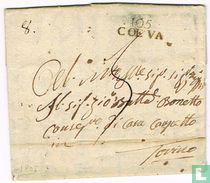 """Lettre Département Conquis """" 105 COEVA """""""