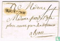 "Lettre avec Marque Postale "" BOURGOIN """