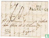"""Lettre Département Conquis """" 112 FLORENCE """""""