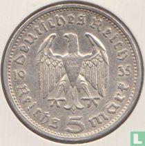 Duitse Rijk 5 reichsmark 1935 (G)