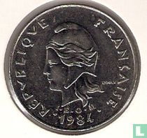 Frans-Polynesië 20 francs 1984