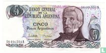 Argentinië 5 Pesos Argentinos 1983 (handtekening 2)