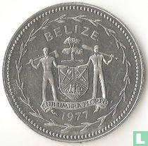 """Belize 5 cents 1977 """"Fork-tailed flycatchers"""""""