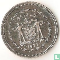 """Belize 10 cents 1977 """"Long-tailed hermit"""""""