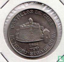 """Cuba 1 peso 1984 """"El Morro Santiago De Cuba"""""""