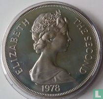 """Ascension 1 crown 1978 (PROOF) """"25th anniversary of the Coronation of Queen Elizabeth II"""""""
