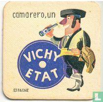 """Espagne camarero, un Vichy Etat / Dit is een van de 30 bierviltjes """"Collectie Expo 1958""""."""