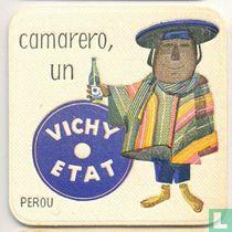 """Perou camarero, un Vichy Etat / Dit is een van de 30 bierviltjes """"Collectie Expo 1958""""."""