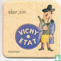 """Allemagne Ober, ein Vichy Etat / Dit is een van de 30 bierviltjes """"Collectie Expo 1958""""."""