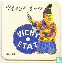 """Japon Vichy Etat / Dit is een van de 30 bierviltjes """"Collectie Expo 1958""""."""