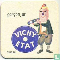 """Suisse garçon, un Vichy Etat / Dit is een van de 30 bierviltjes """"Collectie Expo 1958""""."""
