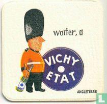 """Angleterre waiter, a Vichy Etat  / Dit is een van de 30 bierviltjes """"Collectie Expo 1958""""."""