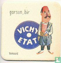 """Turquie garson, bir Vichy Etat / Dit is een van de 30 bierviltjes """"Collectie Expo 1958""""."""